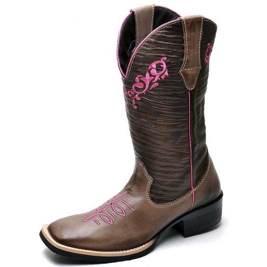 6b93afa4a Bota Country Top Franca Shoes Country - Café   Netshoes