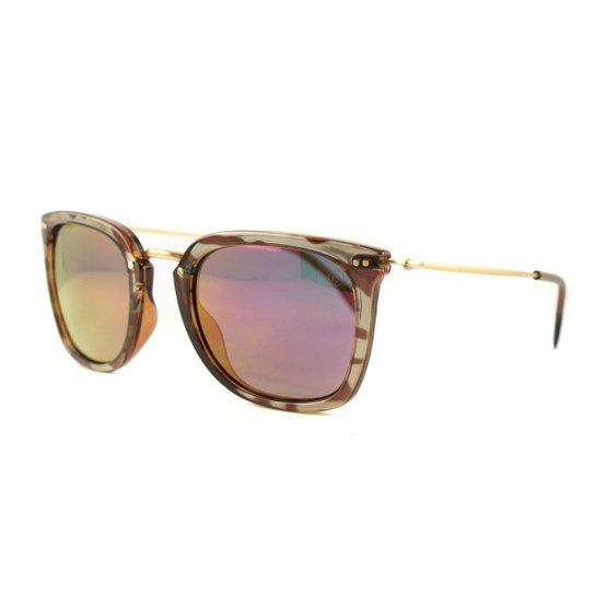 020bb968c Óculos Secret De Sol Patti - Marrom+Amarelo