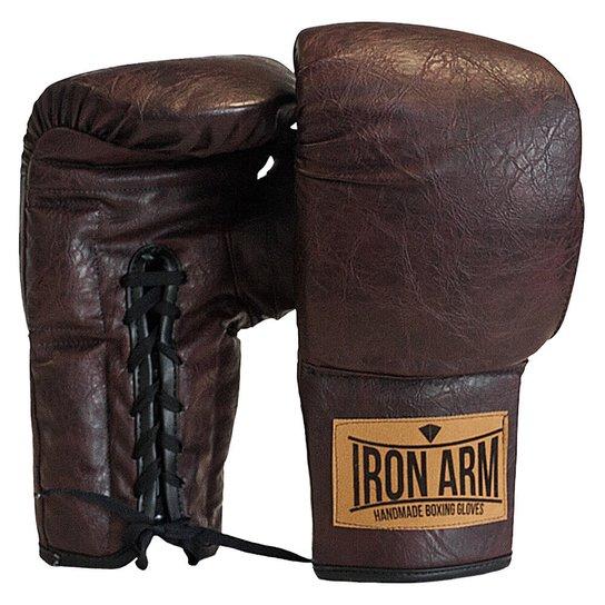 b27d911b9 Luva Muay Thai Boxe Classic Couro Iron Arm - Café