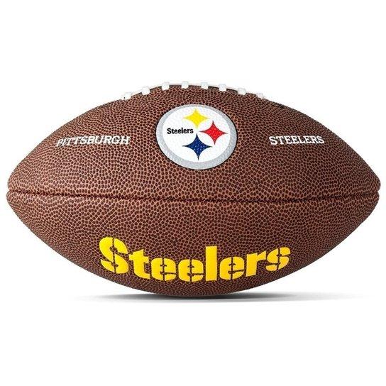 Bola De Futebol Americano Pro Wilson - Pittsburgh - Marrom e Amarelo ... 78cbf66cf603c
