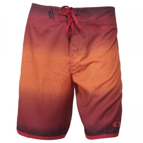a3b62430775ca Bermuda Oakley Mod Skull Stripe - Laranja+Vermelho