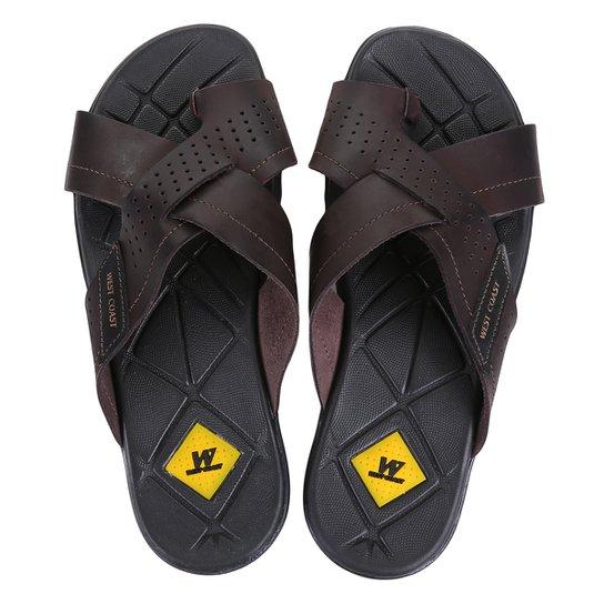 981d539bd Chinelo Couro West Coast Tiras Cruzadas Masculino | Netshoes