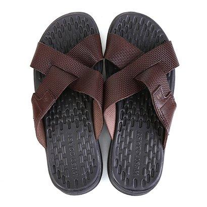 Chinelo Couro West Coast Carmel Sandals Masculino
