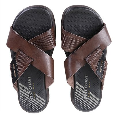 Chinelo Couro West Coast Manuk Sandals Masculino
