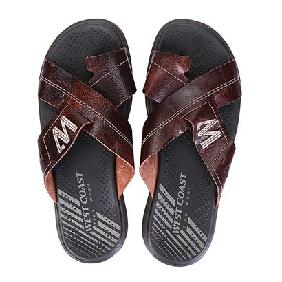 Chinelo Couro West Coast Manuck Flex Wear Masculino