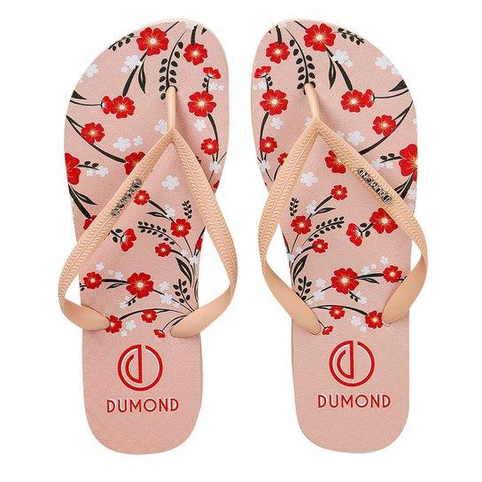 283abf26a Chinelo Dumond Estampado Logo Feminino - Nude   Netshoes