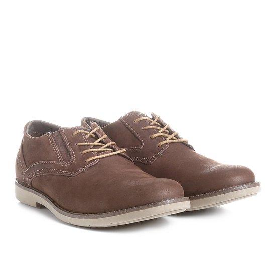 fa6584084d Sapato Casual Couro Kildare com Cadarço Masculino - Café