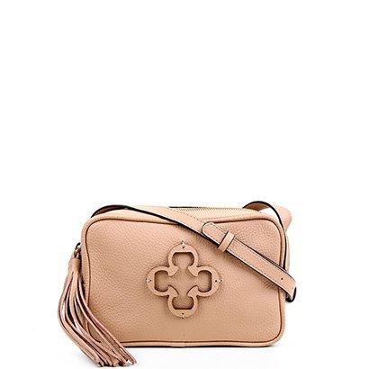 Bolsa Couro Capodarte Mini Bag Logo Tassel Feminina