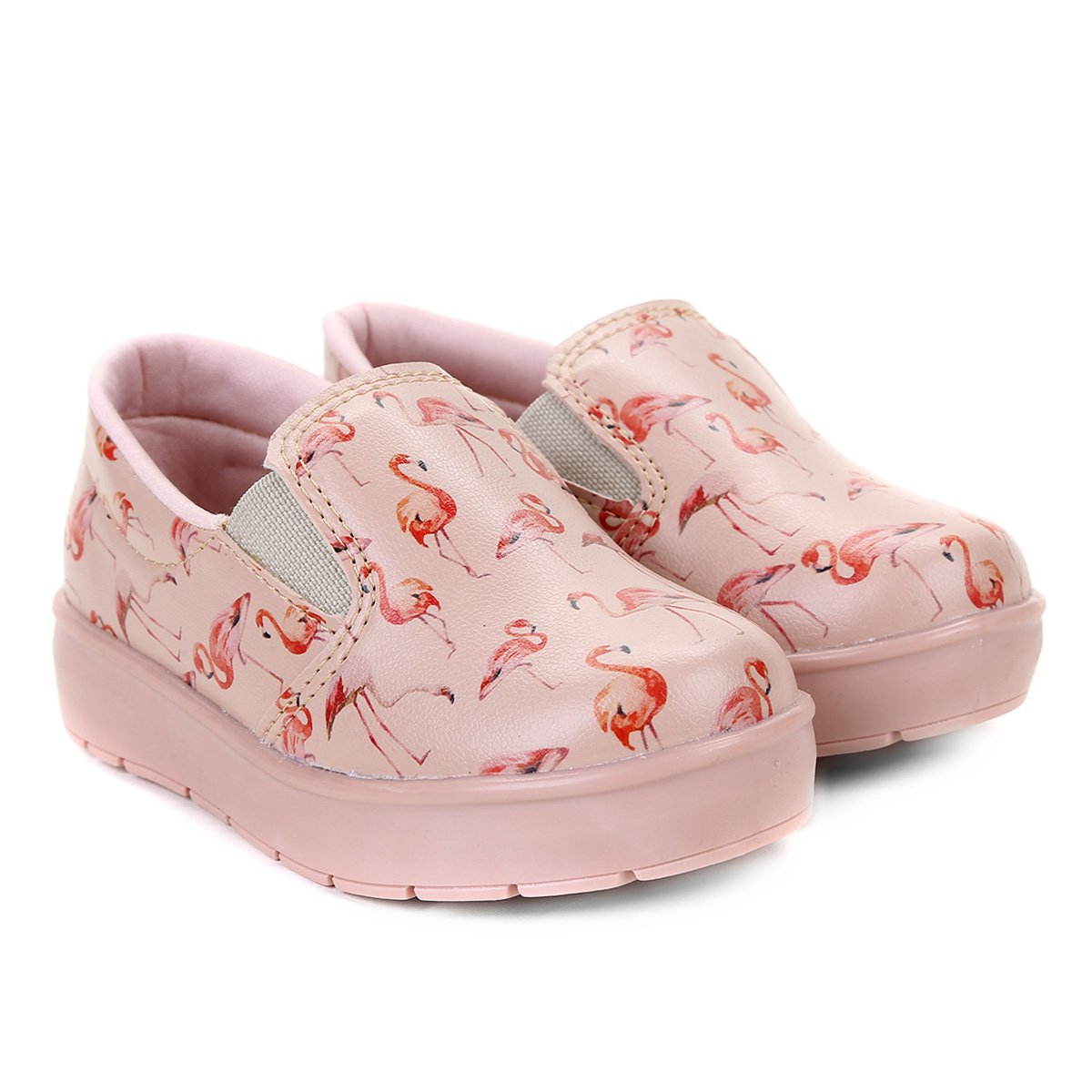 4f38bb1205 Tênis Slip On Estampado Flamingos Infantil Bella Ninna