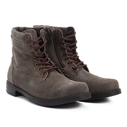Bota Coturno Couro Walkabout Strong Masculina
