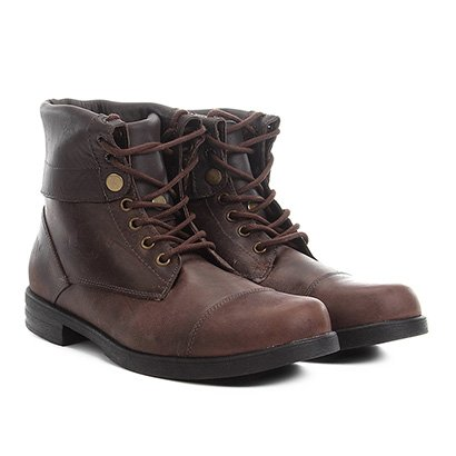 Bota Couro Coturno Walkabout Double Boots Masculina