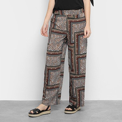 Calça Pantalona Facinelli Estampada Feminina