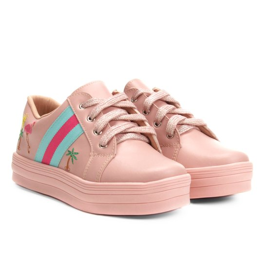 ea12ce21127 Tênis Infantil Menina Fashion Arco-íris Flamingo Feminino - Compre ...