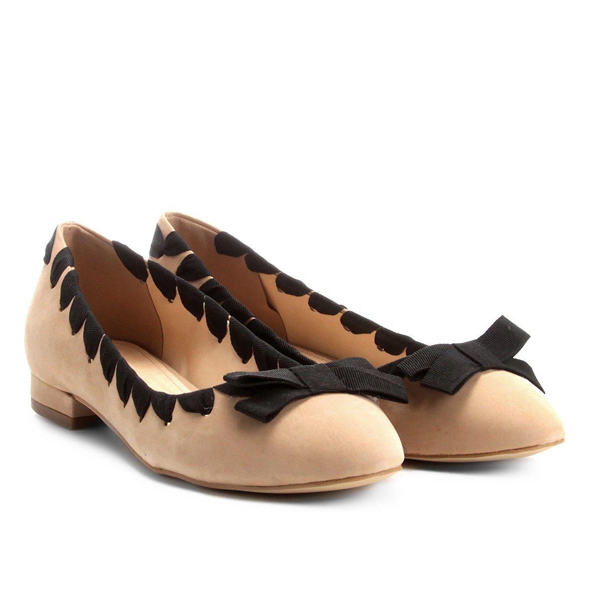 Foto 1 - Sapatilha Couro Shoestock Gorgurão Feminina