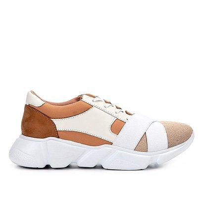 Tênis Couro Shoestock Chunky Sneaker Neoprene Feminino
