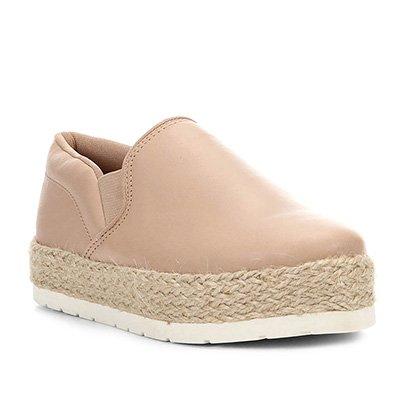 Slip On Shoestock Flatform Corda Feminino