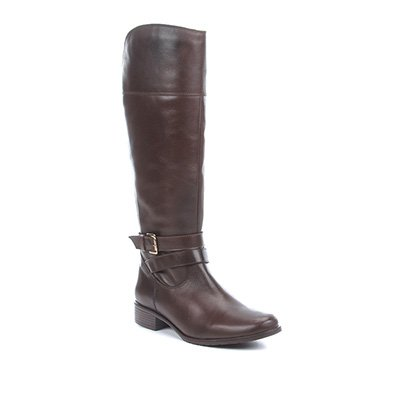 Bota Montaria Shoestock Couro Fivela Feminina