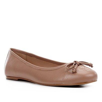 Sapatilha Couro Shoestock Bordado Feminina