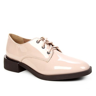 Oxford Shoestock Bico Fino Verniz Feminino