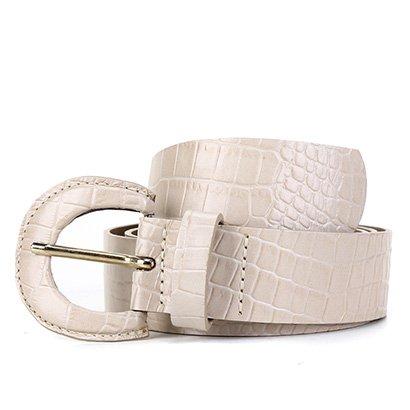 Cinto Couro Shoestock Fivela Forrada Feminina