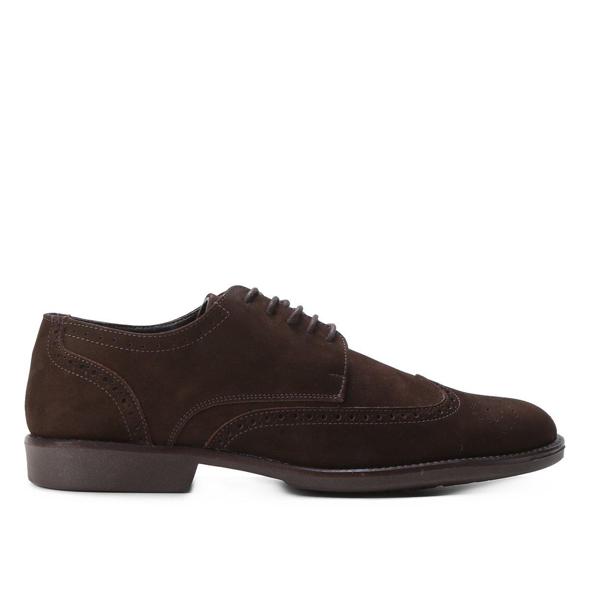 Sapato Couro Shoestock Cadarço Brogue Feminino