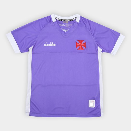 ea77e864a5 Camisa de Goleiro Vasco Infantil II 19 20 - Torcedor Diadora - Roxo+Branco