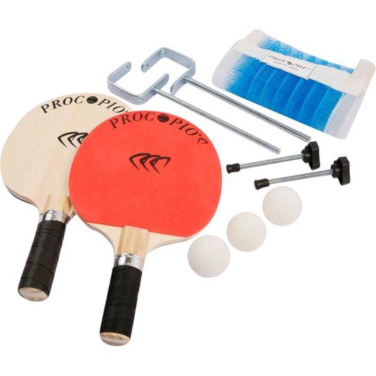 a180f3fde Kit Procopio Tênis de Mesa   Ping Pong Clássico Vigor - Vermelho e ...