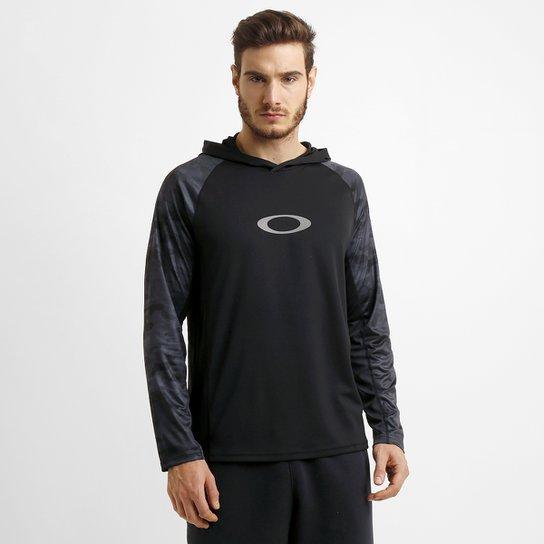 Camiseta Oakley Agility Top M L c  Capuz - Compre Agora  e511af8738f