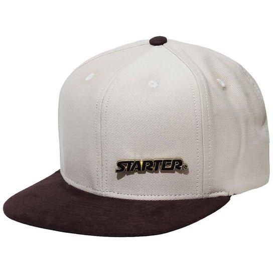 Boné Starter Aba Reta Snapback Flawless Metal Gold - Compre Agora ... 3015aa23c54