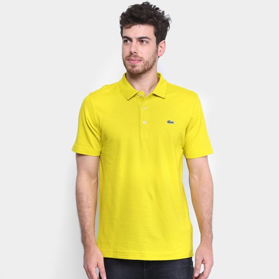 20344512cd Camisa Polo Lacoste Super Light Masculina - Bege - Compre Agora ...