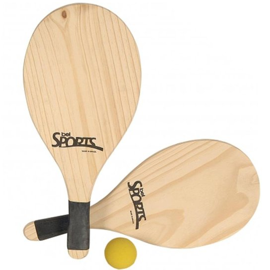 124f19e74e Kit Frescobol Tênis De Praia - Bel Sports - Bege - Compre Agora ...