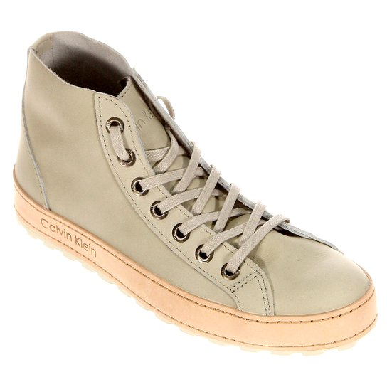 Tênis Calvin Klein - Bege - Compre Agora   Netshoes d95f4f441f