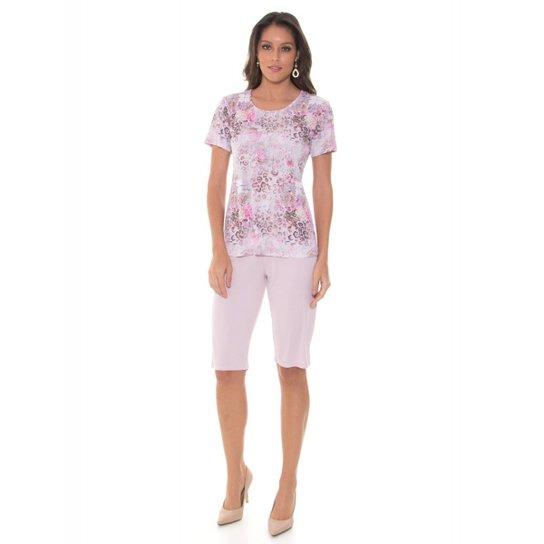 1c6f05f2d820ed Pijama Feminino Recco Microfibra 09770 - Bege