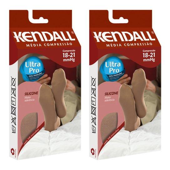 1473c1a56 Kit Com 2 Meia 7 8 Kendall Média Compressão Masculina - Bege ...