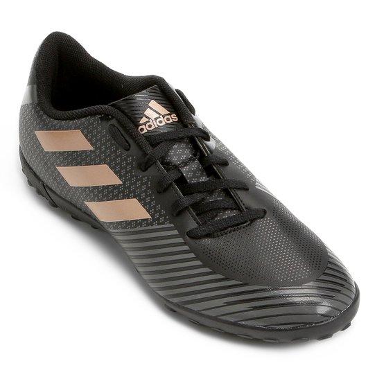 Chuteira Society Adidas Artilheira 18 TF - Preto e Grafite - Compre ... 48f9546108fb7