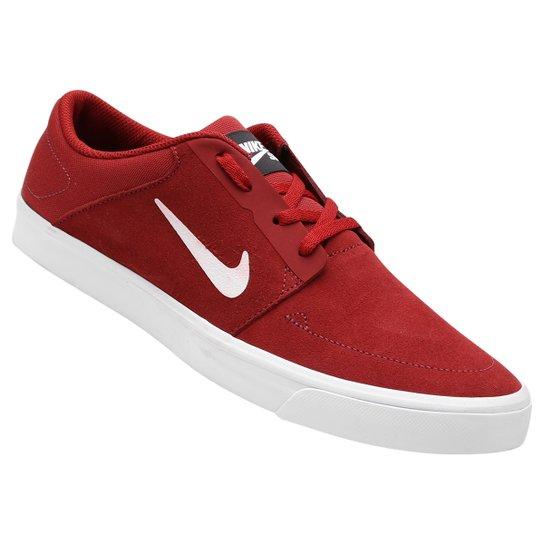 e4e7e3ddd Tênis Nike SB Portmore - Vermelho Escuro+Branco