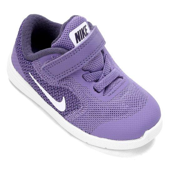 21bbf252fa Tênis Infantil Nike Revolution 3 - Lilás e Branco - Compre Agora ...