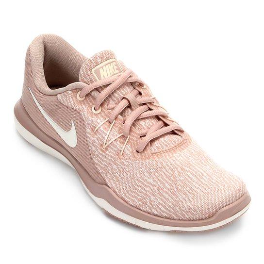 Tênis Nike Flex Supreme TR 6 Feminino - Bege - Compre Agora  b21687a964782