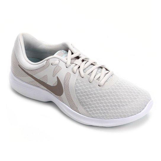 4212ea18287e5 Tênis Nike Wmns Revolution 4 Feminino - Bege - Compre Agora