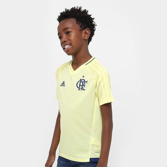 f24f8a21df58a Camisa Flamengo Infantil 17 18 Treino - Torcedor Adidas - Amarelo Claro