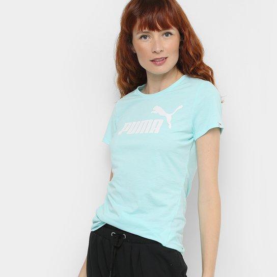 12103cd47a Camiseta Puma Ess No.1 Tee Heather Feminina - Azul Piscina - Compre ...