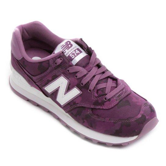 97d686149f2 Tênis New Balance 574 Feminino - Roxo e Branco - Compre Agora
