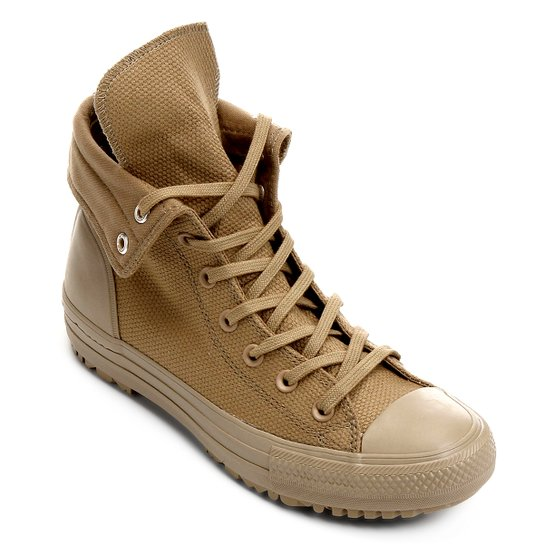 1b7db14ca4b Tênis Converse Cano Alto Chuck Taylor All Star Hi-Rise Boot Feminino - Bege