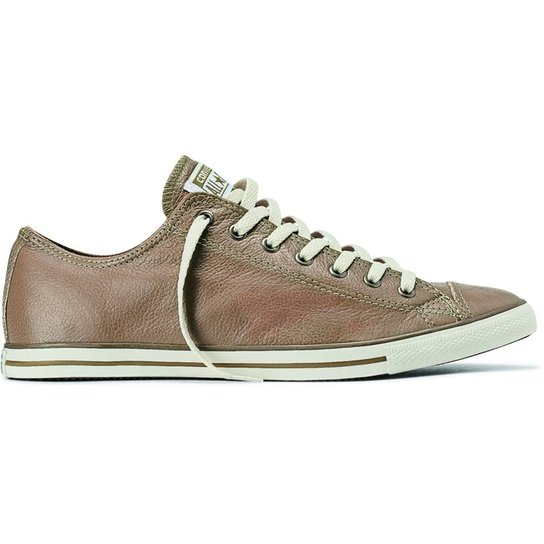 7866002c11e Tênis Converse All Star Ct As Lean Leather Ox Bege CE387458 - Compre ...
