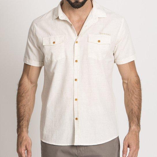 816b664a6b430 Camisa Linho Resort Masculina - Compre Agora