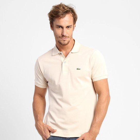 Camisa Polo Lacoste Original Fit Masculina - Bege - Compre Agora ... 8a57d73a12