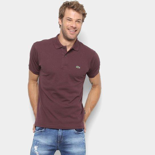283f3c22b7c Camisa Polo Lacoste Original Fit Masculina - Violeta - Compre Agora ...
