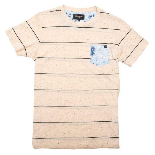 Camiseta Billabong TeamWave II - Bege - Compre Agora  3051bc2a7992