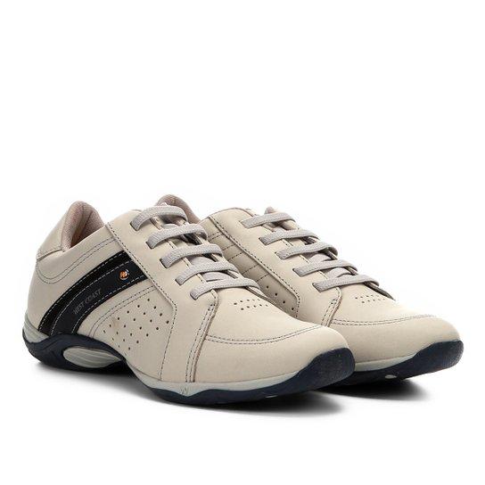 bdba9613a4287 Sapatênis Couro West Coast Parker Masculino - Bege   Netshoes
