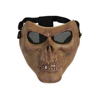 6bba74e4b4196 Máscara de Proteção Airsoft Caveira Tan HY-051TN